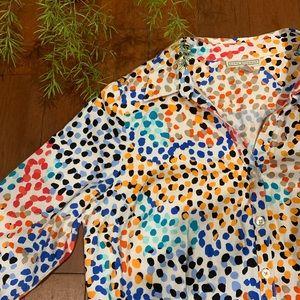 DANA BUCHMAN Multi Colored Spotted Top